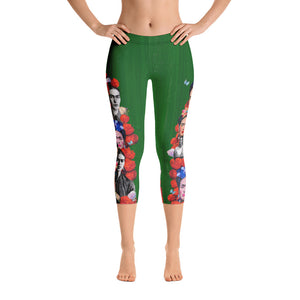 Frida Kahlo Capri Leggings