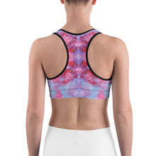 Load image into Gallery viewer, Sports bra -  Red Tie Dye