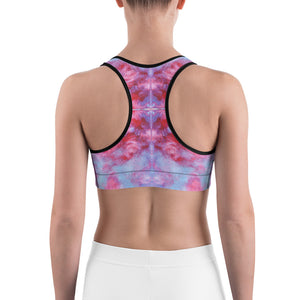 Sports bra -  Red Tie Dye