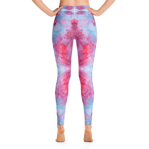 Red Spring Flowers - Yoga Leggings