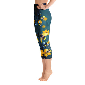 Save the Bees - Yoga Capri Leggings