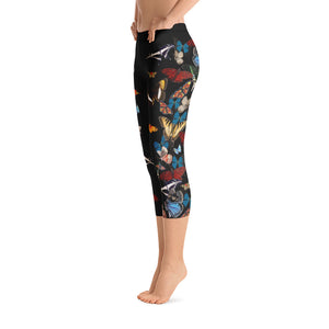 Bountiful Butterflies - Capri Leggings