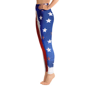 4th of July American Flag - Yoga Leggings