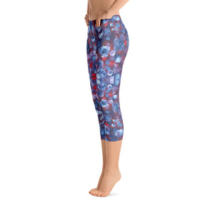 Blueberries - Capri Leggings