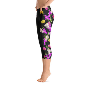 Ooh la la Orchids - Capri Leggings