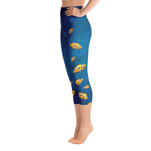 Clown Fish Ocean - Yoga Capri Leggings
