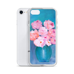 I Love Flowers - iPhone Case