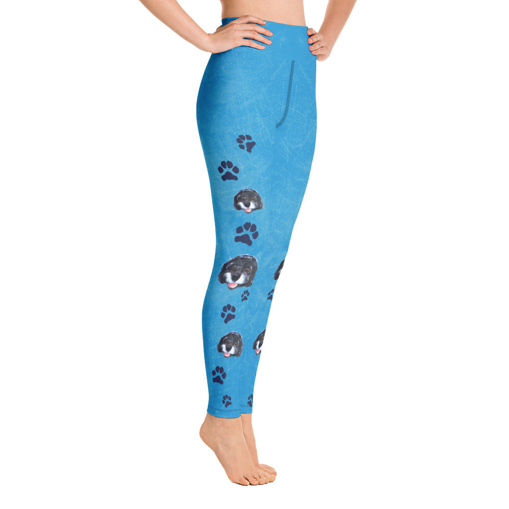 Faith the Dog - Pawsitive Change Program All-Over Print Yoga Leggings