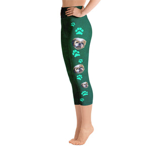 Pawsitive Change Shih Tzu Dog - Yoga Capri Leggings