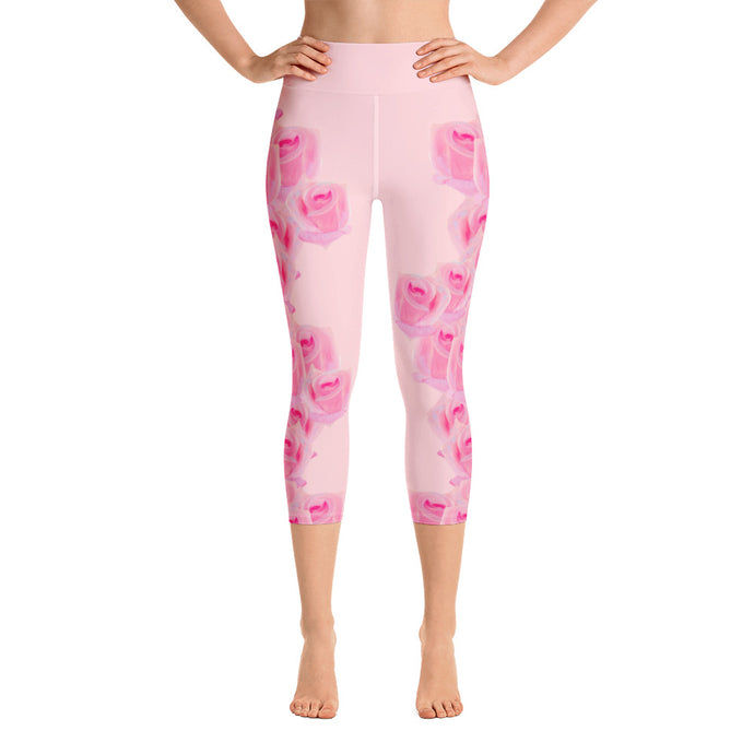 A Rose is a Rose - Yoga Capri Leggings