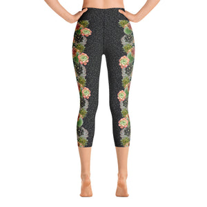 Succulent Bloom - Yoga Capri Leggings
