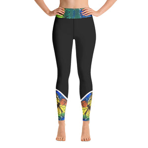 Abstract Butterflies - Yoga Leggings
