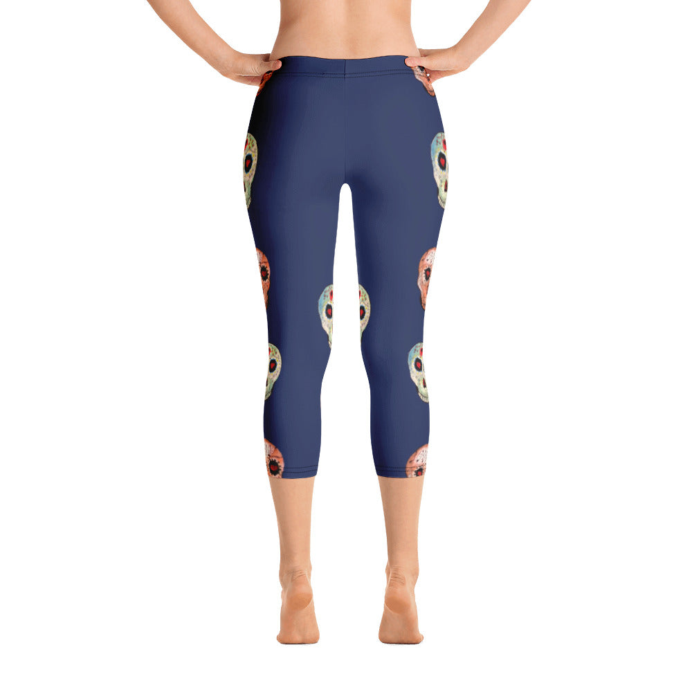 Day of the Dead - Capri Leggings