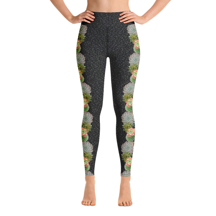 Succulent Bloom - Yoga Leggings
