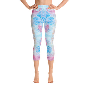 Spring Flowers - Yoga Capri Leggings