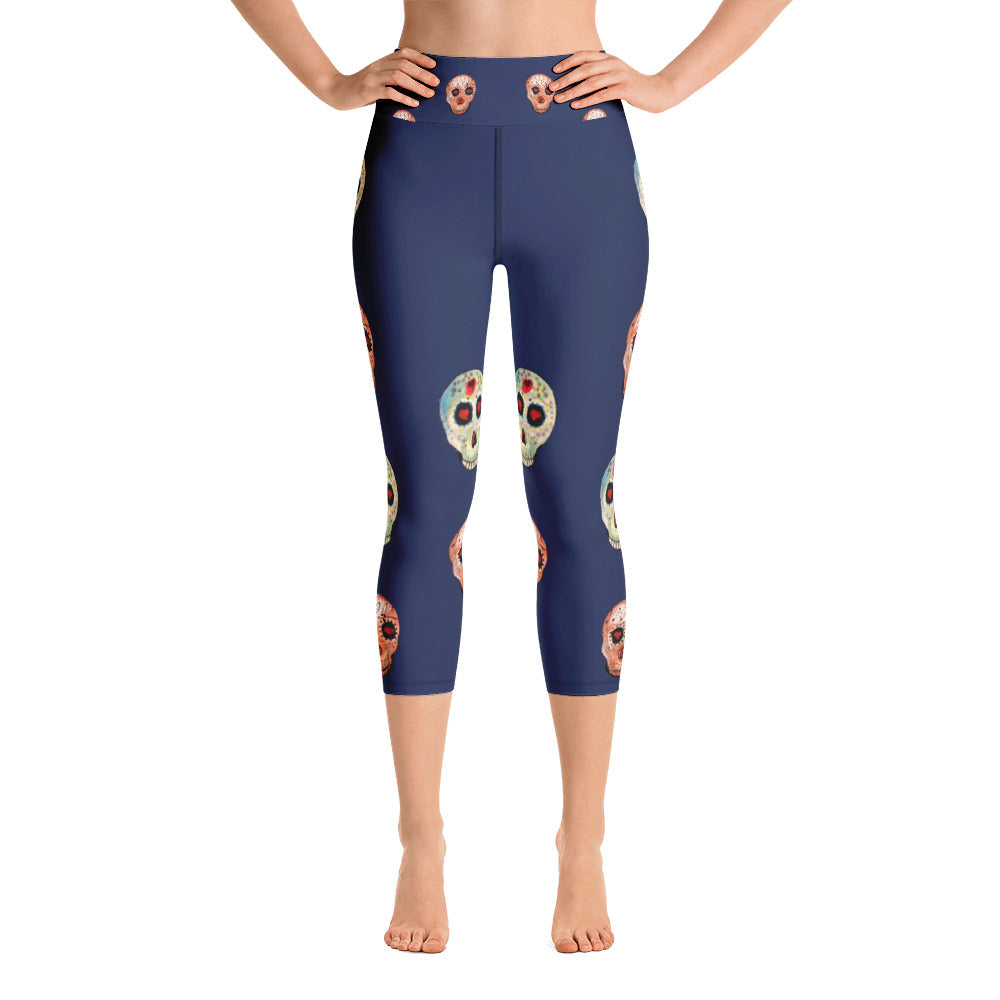 Day of the Dead - All-Over Print Yoga Capri Leggings