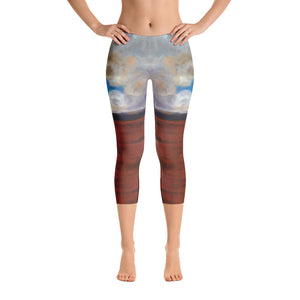 Cloudy Sky - Capri Leggings