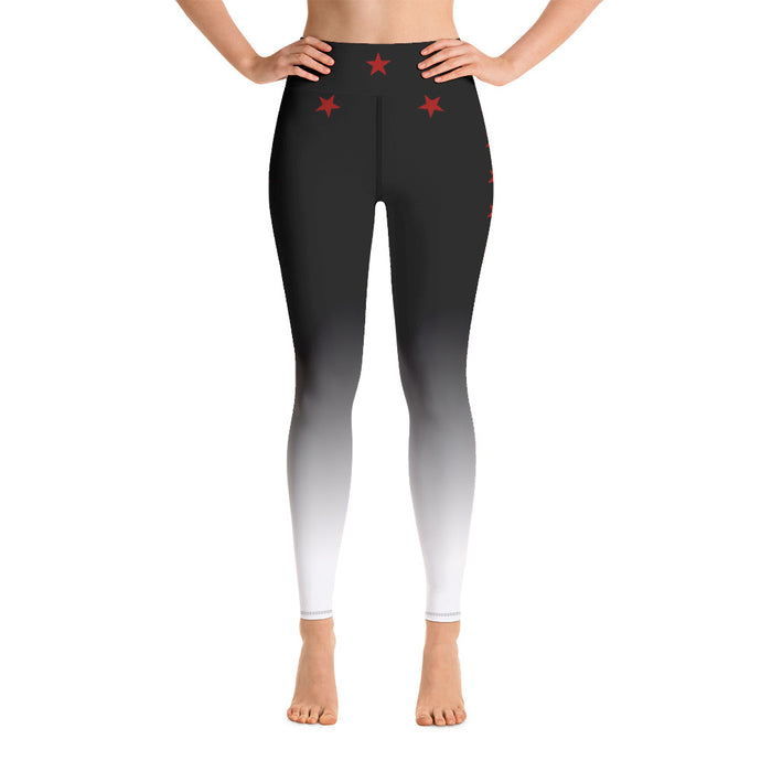Red Stars at Night - Yoga Leggings