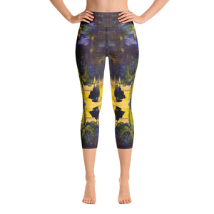 City Scape - All-Over Print Yoga Capri Leggings
