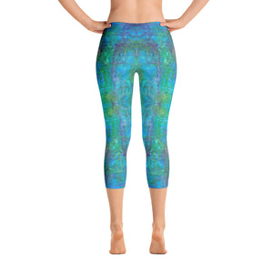 Sea Scape - Capri Leggings