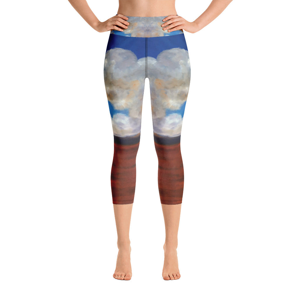 Cloudy Sky - Yoga Capri Leggings