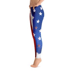 4th of July American Flag - Leggings