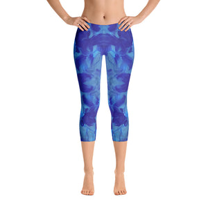 Blue Marble - Capri Leggings