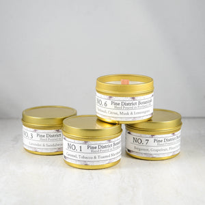 Vegan Soy Blend Candle - Gold Tin