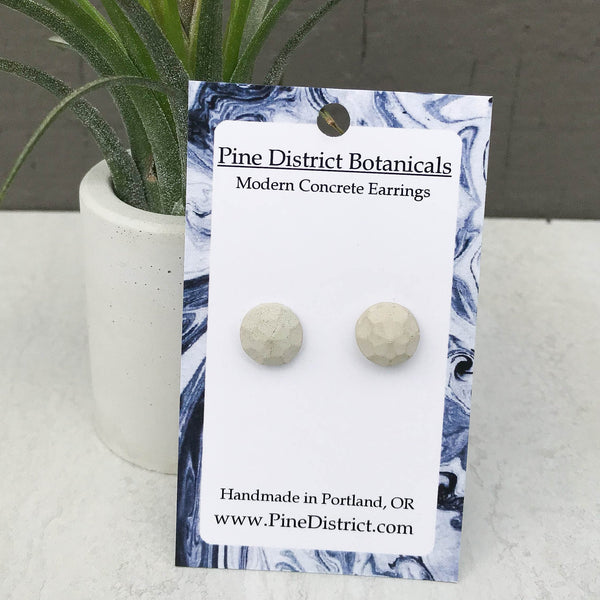 Geometric Round Concrete Earrings