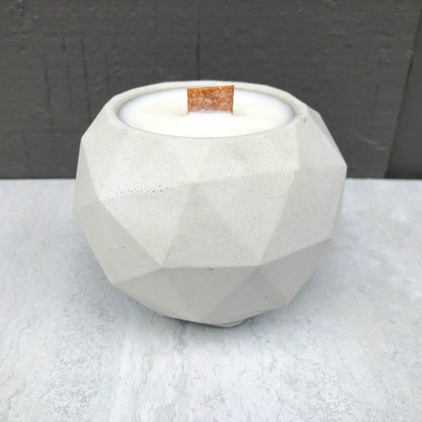 Concrete Geometric Soy Candle