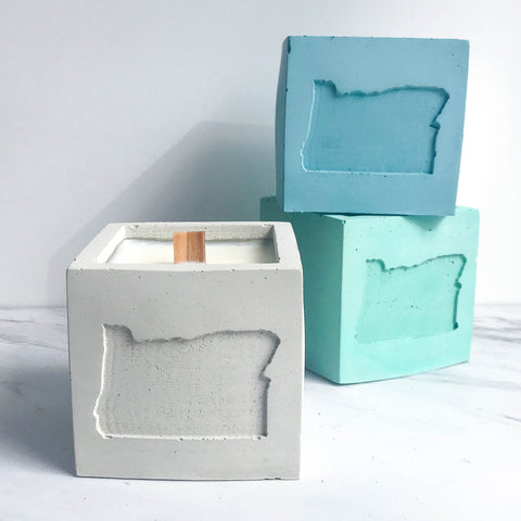 Oregon Concrete Soy Candle
