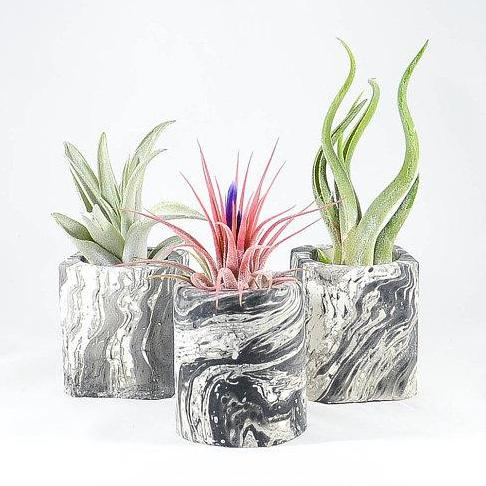 Mini Black Marble Concrete Air Planter