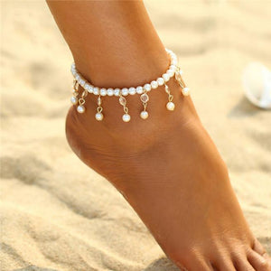 Bohemian Pearl Anklets-Anklets-NUVO53