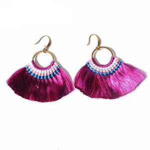 Boho Tassel Drop Earrings 10 Colors-earrings-NUVO53