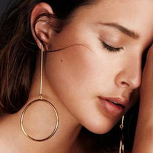 Circle Drop Earrings-earrings-NUVO53