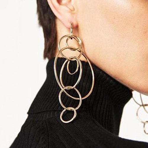 Circle Loop Earrings-earrings-NUVO53