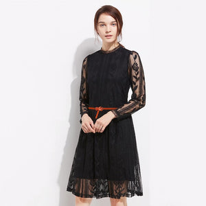 Cow Leather Skirt Dress Belt-Belts-NUVO53
