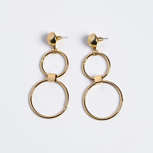Double Ring Hoop Earrings-earrings-NUVO53