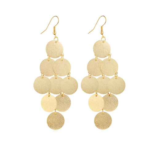 Drop Disk Earrings-earrings-NUVO53