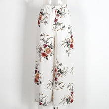 Floral Print Side Split Elastic High Waist Wide Pants-Women's Pants and Shorts-NUVO53