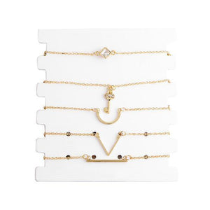 Key Bracelet Chain Mix 5 Piece Set-Fashion Jewelry Sets-NUVO53