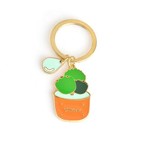Little Bear Cactus Potted Plant Key Ring-Key Rings-NUVO53