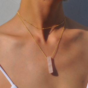 Natural Stone Quartz Chain Choker Necklace-Necklace-NUVO53