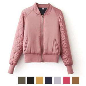 Parka Baseball Autumn Jacket-Women's Coats and Jackets-NUVO53