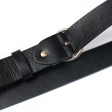 Round Buckle Faux Leather Belt-Belts-NUVO53