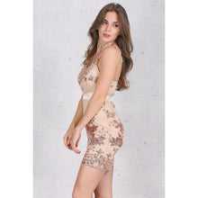 Sequin Bodycon Mini Dress-Dresses-NUVO53