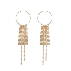 Sequins Tassel Hoop Earrings-earrings-NUVO53