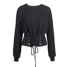 Soft Knit Lace-Up Short Sweater-Women's Coats and Jackets-NUVO53