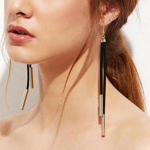 Velvet Tassel Earrings-earrings-NUVO53
