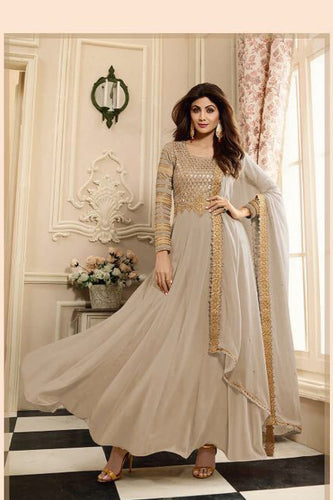Shilpa Shetty Designer Beautiful Stylish Colorfull Party Wear Georgette Dress